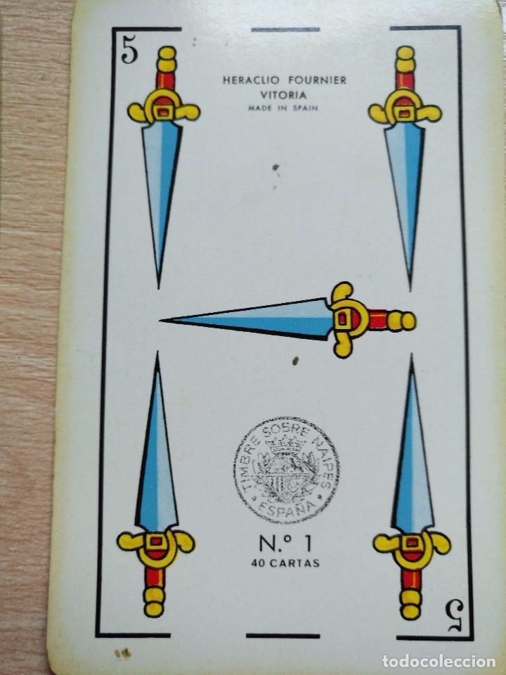 Barajas de cartas: BARAJA Heraclio Fournier.40 CARTAS, COMPLETA PUBLICIDAD IBERIA Lineas Aereas 1962 - Foto 4 - 89692296