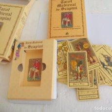 Barajas de cartas: TAROT MEDIEVAL DE LUIGI SCAPINI. LIBRO + BARAJA DE 78 CARTAS. GAIA EDICIONES. Lote 89799436