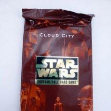 Barajas de cartas: STAR WARS CLOUD CITY CUSTOMIZABLE CARD GAME. 9 CARD EXPANSION SET 1997. TRADING CARDS. OFRT. Lote 89817220