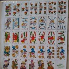 Barajas de cartas: BARAJA DE CARTAS MINI MINIBARAJAS BARAJAS PETETE P.T.T. EDELVIVES 1984 TROQUELADAS PARA CORTAR. . Lote 89842632