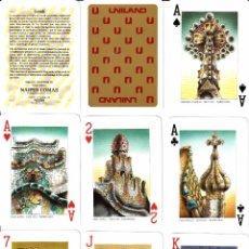 Barajas de cartas: BARAJA POKER DE GAUDI. REVERSO DE UNILAND. Lote 90131536