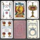 Barajas de cartas: BARAJA HIJA DE B. FOURNIER, FELIPE V, MARFIL 1ª, Nº 144 EN 5 DE ESPADAS. TIMBRE ROJO DE 1964 . Lote 90241820