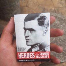 Barajas de cartas: CURIOSA BARAJA DE CARTAS DE HEROES. SEGUNDA GUERRA MUNDIAL. . Lote 90447319