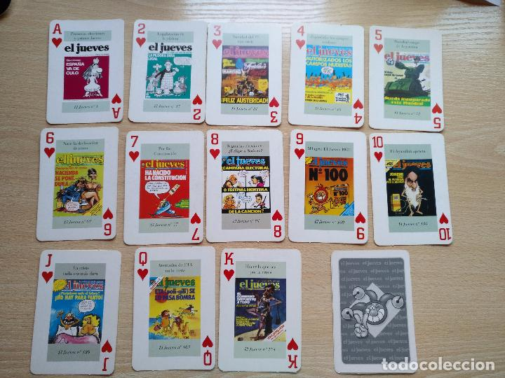 BARAJA DE CARTAS POKER PORTADAS DE EL JUEVES COMPLETA 54 NAIPES 1994 (Juguetes y Juegos - Cartas y Naipes - Otras Barajas)