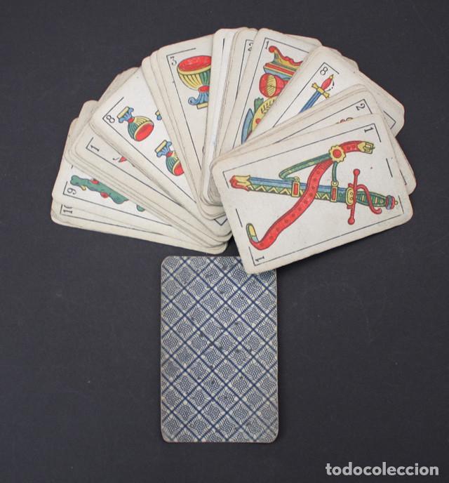 Barajas de cartas: ANTIGUA BARAJA NAIPES OPACOS DE UNA HOJA LA HISPANO AMERICANA, COMPLETA 48 CARTAS, USADA - Foto 2 - 90859905