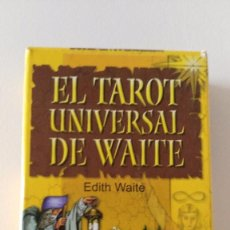 Barajas de cartas: BARAJA DE CARTAS DE TAROT. EL TAROT UNIVERSAL DE EDITH WAITE. 78 NAIPES. EDITORIAL SIRIO.. Lote 91297325