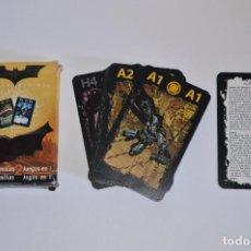 Barajas de cartas: JUEGO DE CARTAS CARTA MUNDI BATMAN BEGINS JUEGO DE FAMILIAS 2 JUEGOS EN 1 INCLUYE INSTRUCCIONES. Lote 92819160