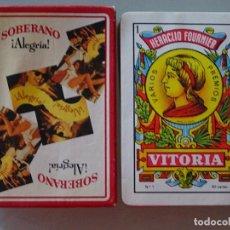 Barajas de cartas: BARAJA DE CARTAS ESPAÑOLA. FOURNIER. BEBIDAS. BRANDY SOBERANO ALEGRIA. Lote 93154755