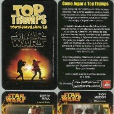 Barajas de cartas: BARAJA DE CARTAS TOP TRUMPS STAR WARS - EPISODIOS I - III - NUEVA. Lote 171796604