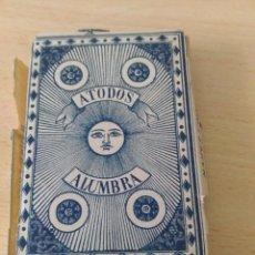 Barajas de cartas: BARAJA NAIPES FINOS A TODOS ALUMBRA 1878. AZUL. Lote 93858430