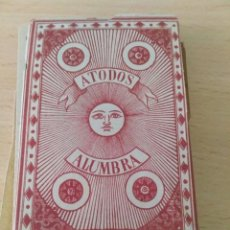 Barajas de cartas: BARAJA NAIPES FINOS A TODOS ALUMBRA 1878. MARRON. Lote 93858535