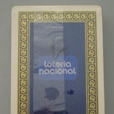 Barajas de cartas: BARAJA DE CARTAS PÓKER. FOURNIER. LOTERÍA NACIONAL AÑO 1975. CUPONES. PRECINTADA. Lote 93946775