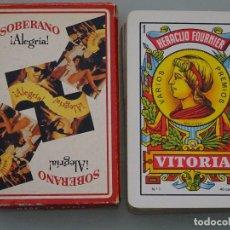 Barajas de cartas: BARAJA DE CARTAS ESPAÑOLA. FOURNIER. BEBIDAS. BRANDY SOBERANO ALEGRIA. Lote 93947185