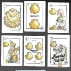 Barajas de cartas: BARAJA ESPAÑOLA, BARALLA GALEGA DE 1987, LEYMA COOPERATIVA LECHERA GALLEGA. SIN USAR. 40 CARTAS.. Lote 195515858