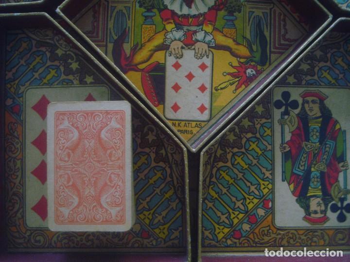 Barajas de cartas: LIBRERIA GHOTICA. RARO JUEGO DE CARTAS DEL SIGLO XIX.JEU DU NAIN JAUNE. CAJA ORIGINAL.COMPLETO.30X24 - Foto 2 - 94112260