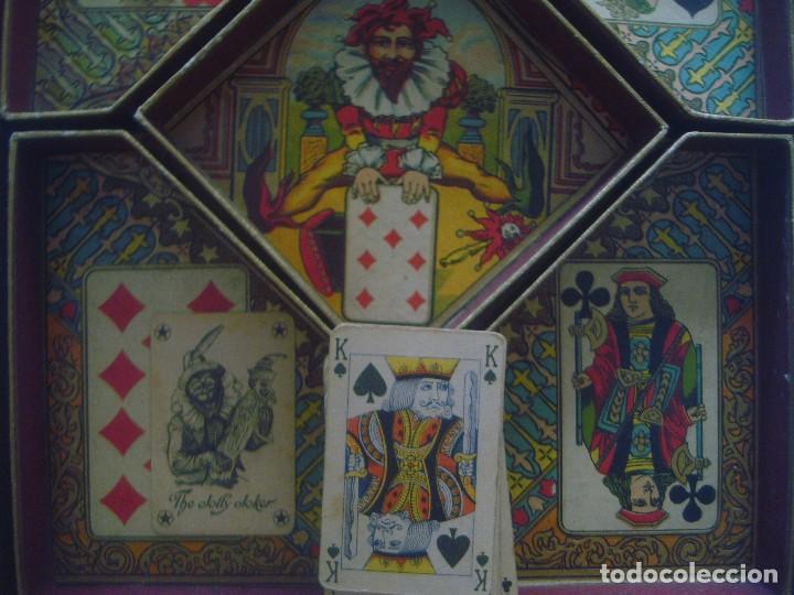 Barajas de cartas: LIBRERIA GHOTICA. RARO JUEGO DE CARTAS DEL SIGLO XIX.JEU DU NAIN JAUNE. CAJA ORIGINAL.COMPLETO.30X24 - Foto 3 - 94112260