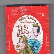 Barajas de cartas: BARAJA DE CARTAS FELIPE Y LETIZIA HABEMUS BODA INTERVIÚ MADRID 2004 NUEVA PRECINTADA NAIPES. Lote 94147240