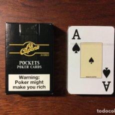 Barajas de cartas: BARAJA POCKER CIGARROS AL CAPONE POCKETS CIGARS.POCKETS CARDS POKER.PRECINTADAS CON FUNDA. Lote 94420154