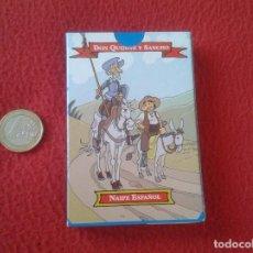 Barajas de cartas: BARAJA INFANTIL JUEGO DE NAIPES NAIPE ESPAÑOL DON QUIJOTE Y SANCHO PANZA. VARITEMAS 50 CARTAS VER FO. Lote 94710747