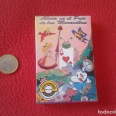 Barajas de cartas: BARAJA INFANTIL JUEGO DE PAREJAS NAIPES VARITEMAS CARTAS CARDS ALICIA EN EL PAIS MARAVILLAS PRECINTA. Lote 94712319