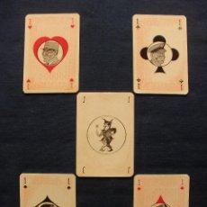 Barajas de cartas: BARAJA JEEP LIDERES II GUERRA MUNDIAL, HITLER, EISENHOWER, MONTGOMERY, STALIN, 1943, WWII, RARISIMA. Lote 59203055