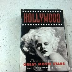 Jeux de cartes: BARAJA-PIATNMIK-HOLLYWOOD-GREAT MOVIE STAR-POKER-GRETA GARBO,CLARK GABLE,MONROE,BRANDO..... Lote 95286647