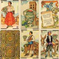 Barajas de cartas: BARAJA ARAGONESA. DESCRIPTIVA DE TRAJES, ARTESANÍA, MONEDAS Y ARQUITECTURA DE ARAGÓN.. Lote 116611327