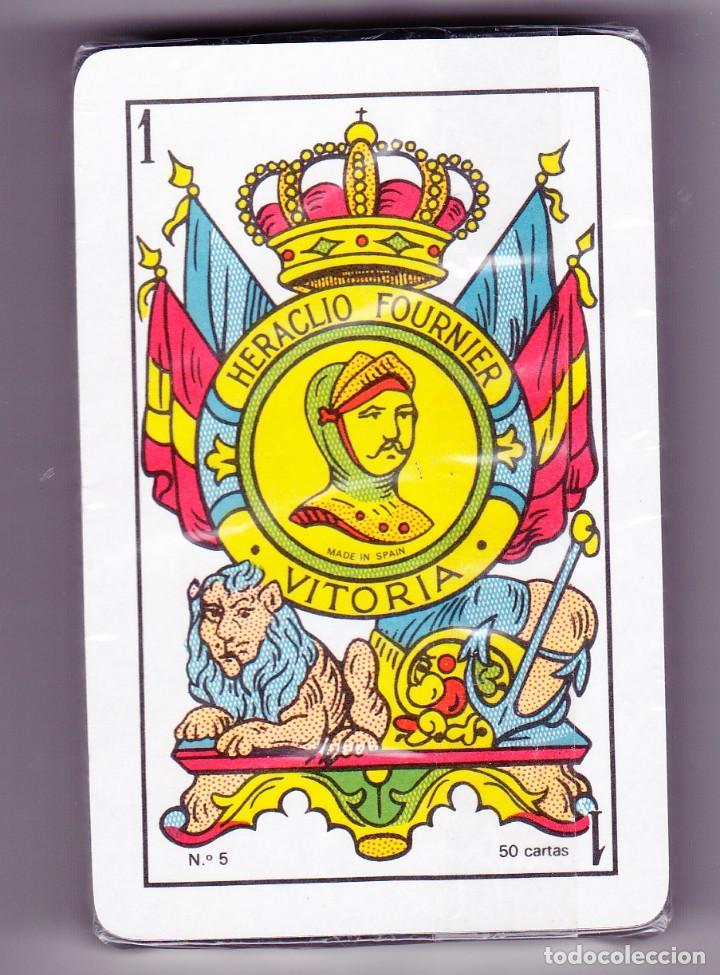 ANTIGUA BARAJA ESPAÑOLA HERACLIO FOURNIER NÚMERO 5, CON 50 CARTAS NUEVAS, PRECINTADA ,AÑOS 90 (Juguetes y Juegos - Cartas y Naipes - Baraja Española)