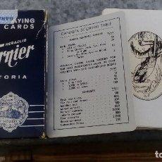 Barajas de cartas: BARAJA DE CARTAS POKER HERACLIO FOURNIER 818 VITORIA ESTAMPADO NEGRO . Lote 95993615