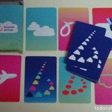 Barajas de cartas: BARAJA DE CARTAS INFANTIL. AEROLÍNEAS BRUSSELS AIRLINES. BÉLGICA. JUEGO DE MEMORIA. 30 GR. Lote 96002287
