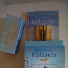 Barajas de cartas: PRECIOSA BARAJA DE LOS MILAGROS CON LIBRO EXPLICATIVO. EDICIÓN DE LUJO. NUEVA. TIKAL. 40 CARTAS.. Lote 96380735