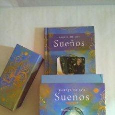 Barajas de cartas: PRECIOSA BARAJA DE LOS SUEÑOS CON LIBRO EXPLICATIVO. EDICIÓN DE LUJO. NUEVA. TIKAL. 40 CARTAS.. Lote 96381235