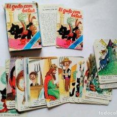 Barajas de cartas: BARAJA NAIPES EL GATO CON BOTAS FOURNIER CUENTO. Lote 96433355
