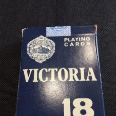 Barajas de cartas: BARAJA DE CARTAS VICTORIA 18 POKER PLAYING CARDS 54. Lote 96482495