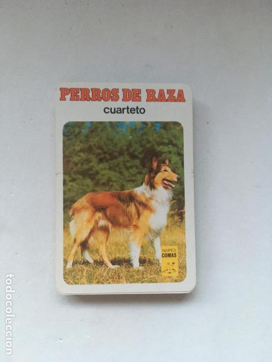 BARAJA INFANTIL RAZAS DE PERROS - CUARTETO - COMPLETA SIN CAJA (Juguetes y Juegos - Cartas y Naipes - Barajas Infantiles)