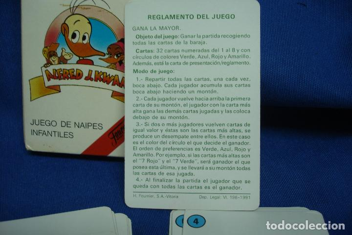 Barajas de cartas: - ALFRED J. KWAK - JUEGO DE NAIPES INFANTILES FABRICADA POR FOURNIER 1987 MADE IN SPAIN - Foto 3 - 96674227