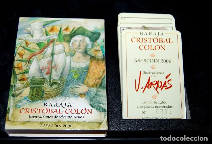 VICENTE ARNÁS. BARAJA CRISTÓBAL COLÓN. (Juguetes y Juegos - Cartas y Naipes - Otras Barajas)