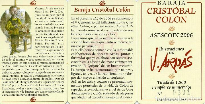 Barajas de cartas: VICENTE ARNÁS. BARAJA CRISTÓBAL COLÓN. - Foto 2 - 96771659