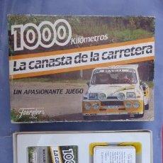 Barajas de cartas: JUEGO DE CARTAS. 1000 KMS, LA CANASTA DE LA CARRETERA..DE FOURNIER... Lote 96794247