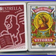 Barajas de cartas: BARAJA DE CARTAS FOURNIER PROPAGANDA DE SEGUROS ESTRELLA EN SU CAJA TRANSPARENTE . Lote 97001335