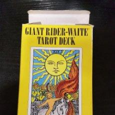 Barajas de cartas: GIANT RIDER-WAITE TAROT DECK. Lote 97150463
