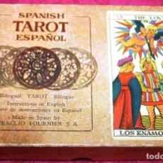 Barajas de cartas: TAROT ESPAÑOL HERACLIO FOURNIER (VITORIA) 78 CARTAS 22ARCANOS MAYORES Y 56 ARCANOS MENORES. Lote 97248379