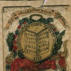 Barajas de cartas: BARAJA 48 CARTAS CONSITUCION ESPAÑOLA 1812.. Lote 97386679