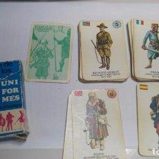 Barajas de cartas: ANTIGUA BARAJA INFANTIL EDICIONES RECREATIVAS EL JUEGO DE LOS UNIFORMES. Lote 97577859