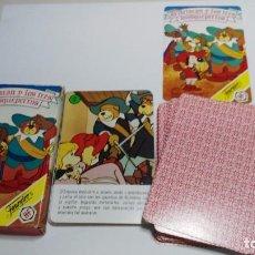 Jeux de cartes: ANTIGUA BARAJA INFANTIL FOURNIER DARTACAN Y LOS 3 MOSQUEPERROS. Lote 97588219