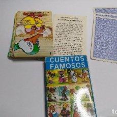 Barajas de cartas: ANTIGUA BARAJA INFANTIL CUENTOS FAMOSOS. Lote 97591831
