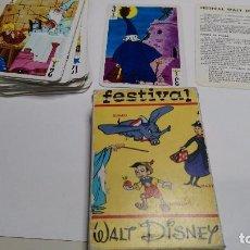 Barajas de cartas: ANTIGUA BARAJA INFANTIL FESTIVAL WATL DISNEY. Lote 97593763