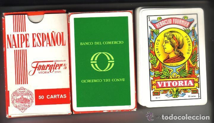 Barajas de cartas: BARAJA ESPAÑOLA PUBLICIDAD DEL DESAPARECIDO BANCO DEL COMERCIO - Foto 2 - 97690807