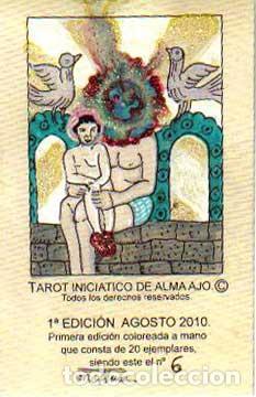TAROT INICIATICO DE ALMA AJO, 22 ARCANOS MAYORES, 6º BARAJA COLOREADA A MANO, EDICION 2010 (Juguetes y Juegos - Cartas y Naipes - Barajas Tarot)