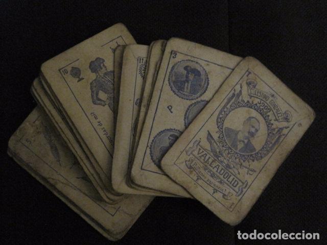 Barajas de cartas: BARAJA INCOMPLETA TOROS PREGUNTAS Y RESP -VALLADOLID 1909-CELESTINO GONZALEZ-VER FOTOS-(V-11.981) - Foto 2 - 97951063